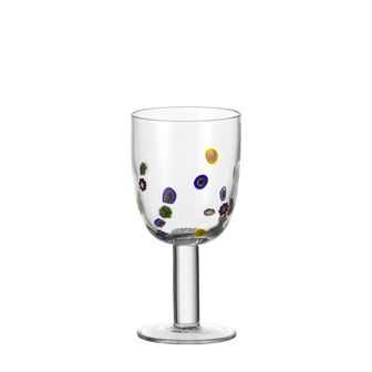 Millefiori Red Wine Glass