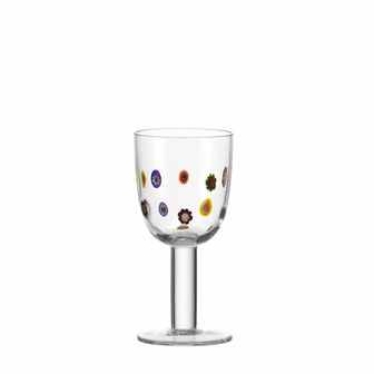 Millefiori White Wine Glass