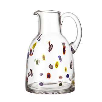 Millefiori Glass Jug / Pitcher