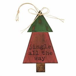 Jingle Wood Tree Ornament
