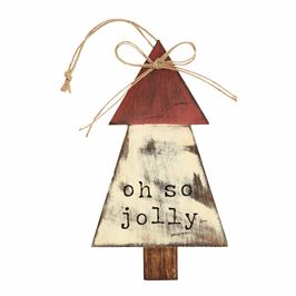 Oh So Jolly Wood Tree Ornament