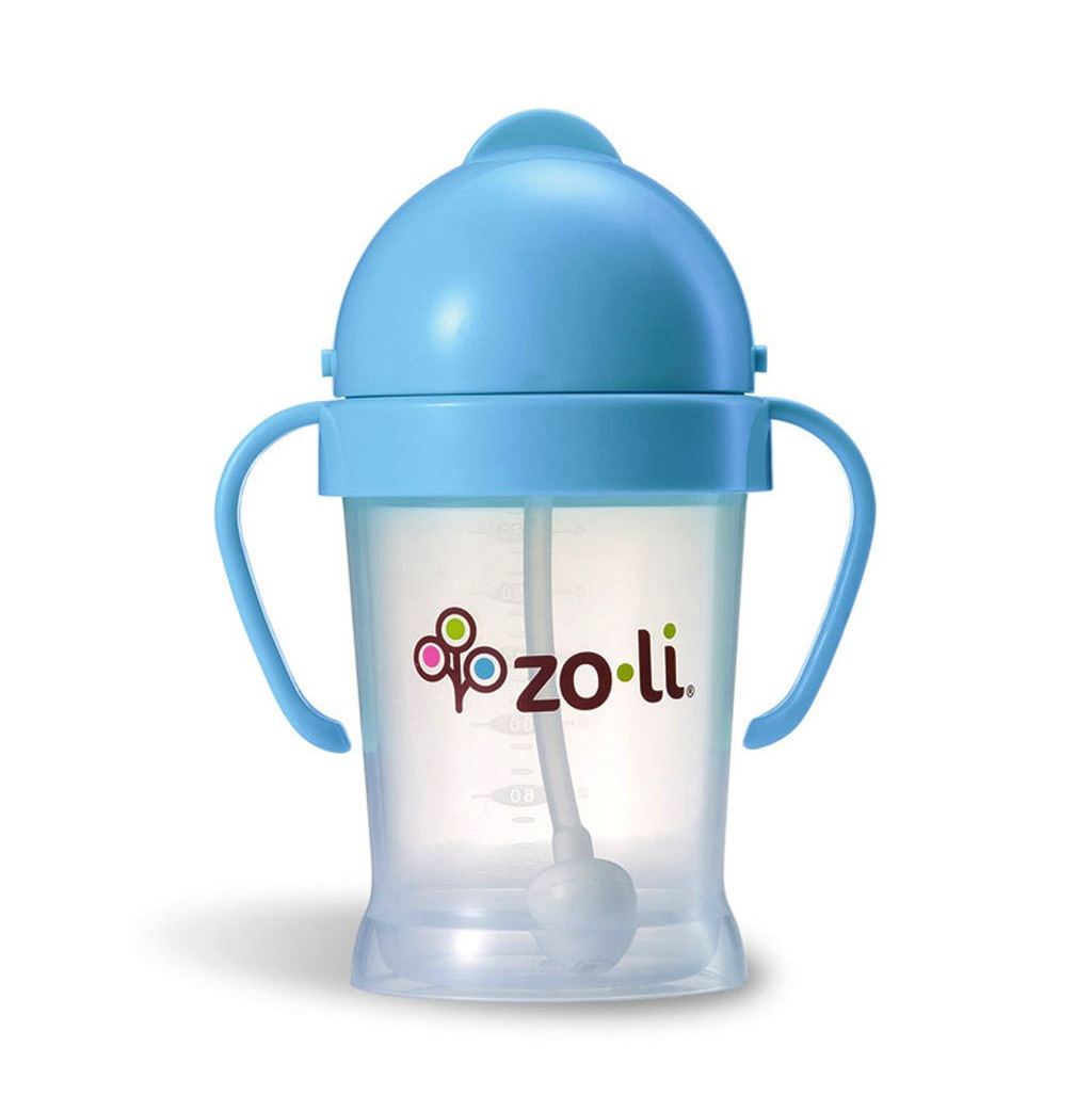 Zoli BOT 6oz Straw Sippy Cup - Blue