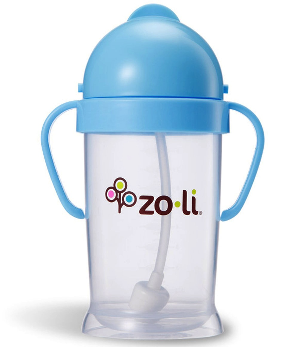 Zoli BOT XL 9oz Straw Sippy Cup - Blue