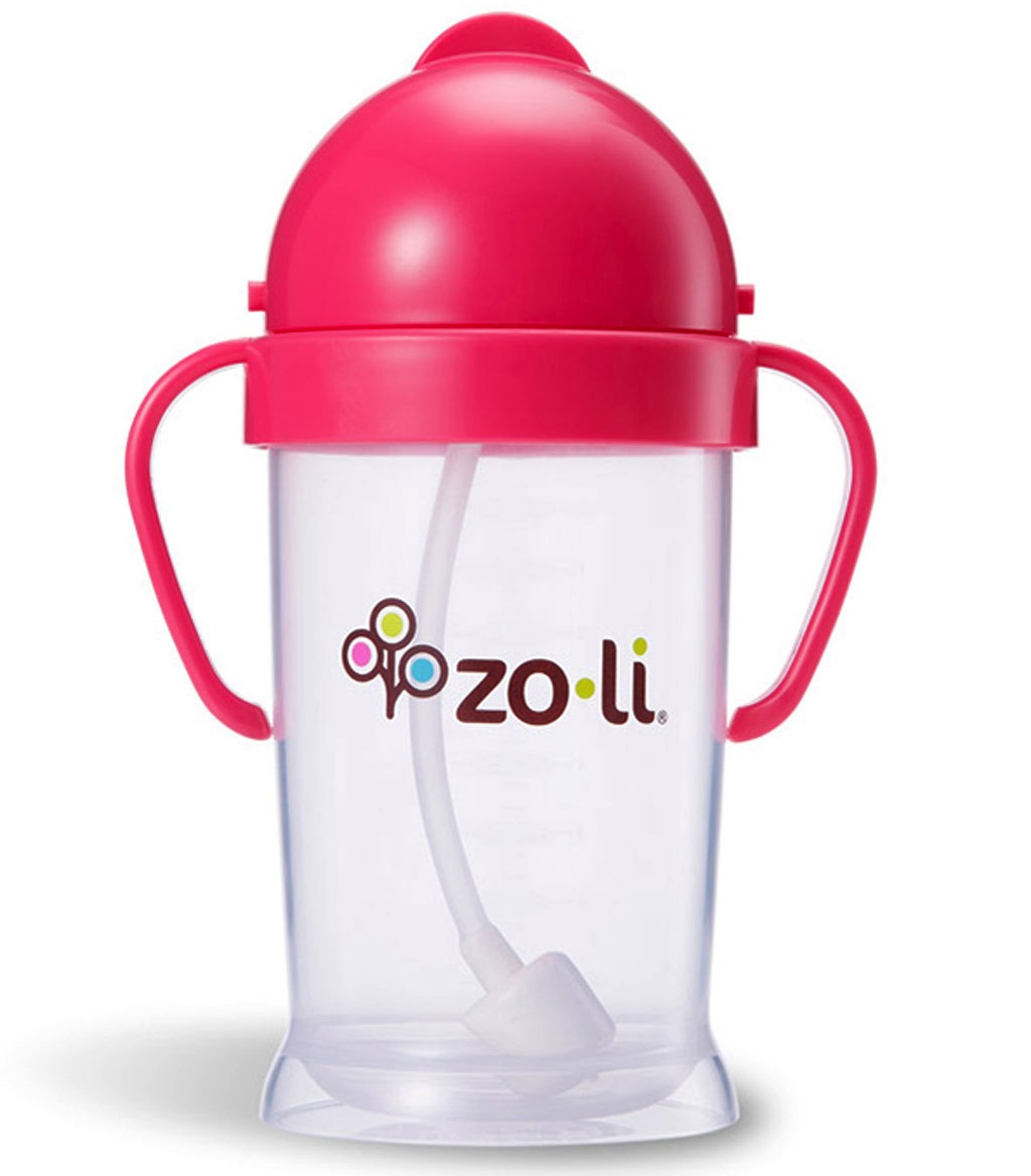 Zoli BOT XL 9oz Straw Sippy Cup - Pink