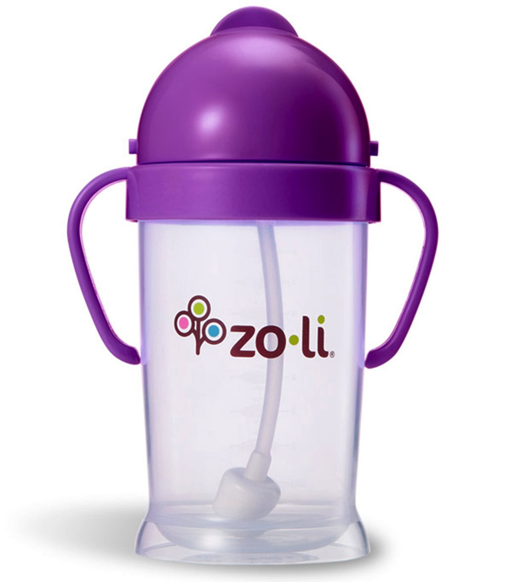 Zoli BOT XL 9oz Straw Sippy Cup - Purple