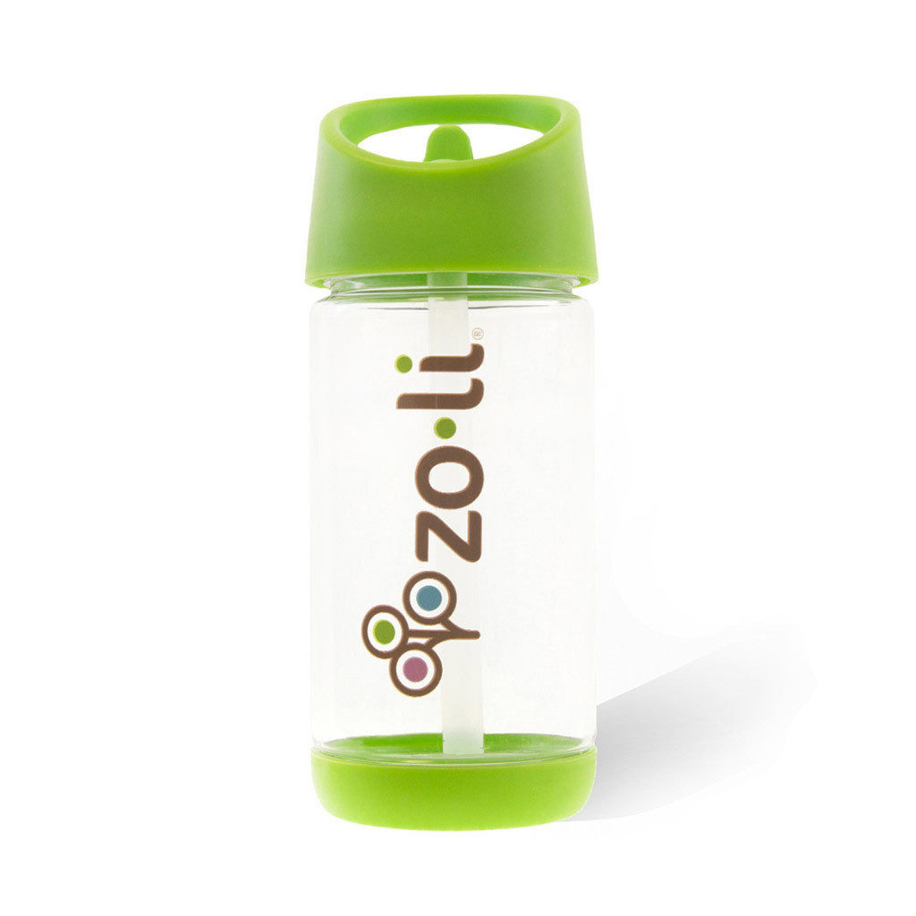 Zoli SQUEAK 12oz Straw Water Bottle - Green