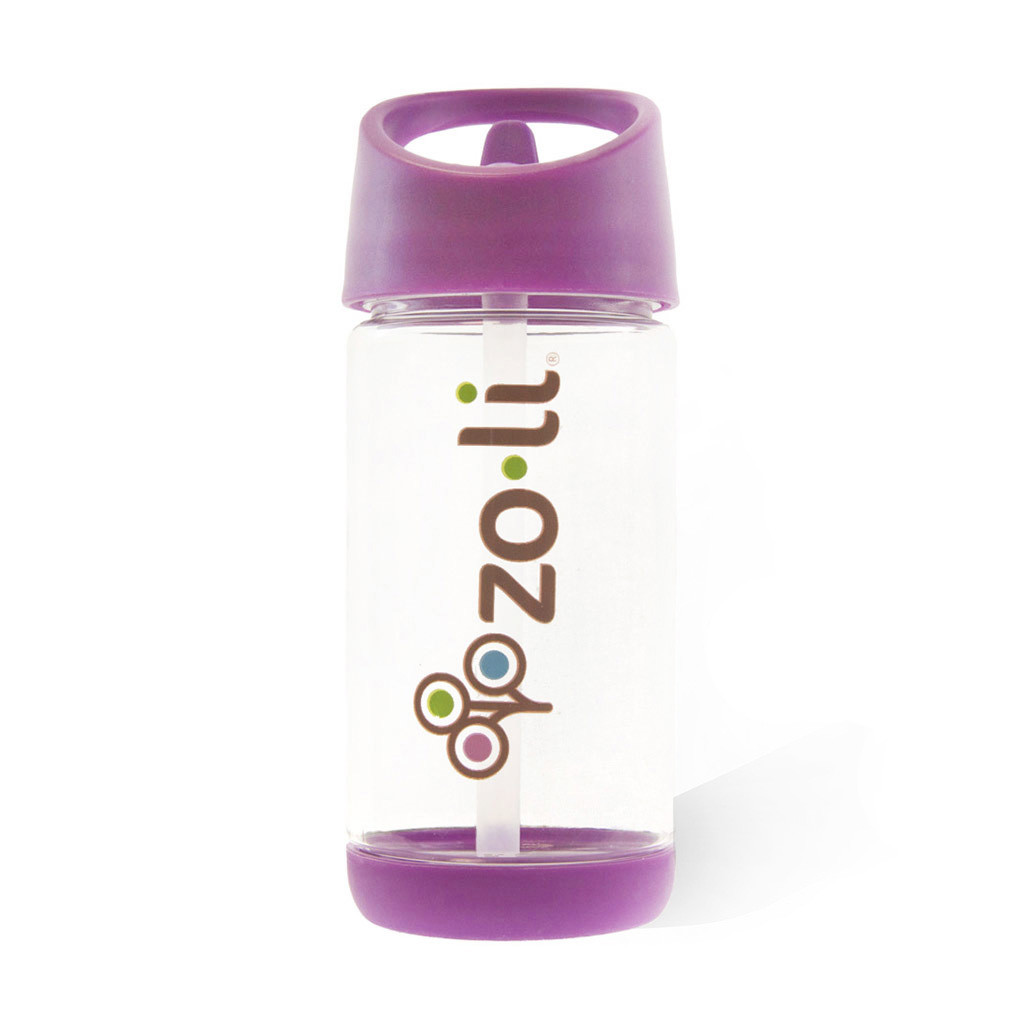 Zoli SQUEAK 12oz Straw Water Bottle - Purple