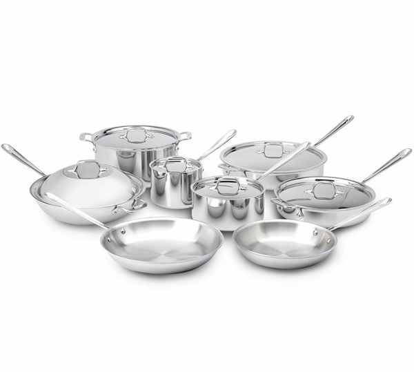 All-Clad Stainless Steel 14pc Cookware Set