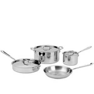All-Clad Stainless Steel 7pc Cookware Set