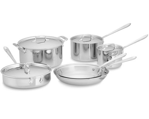All-Clad Stainless Steel 10pc Cookware Set