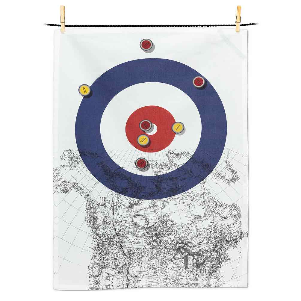 Canada Curling Tea Towel