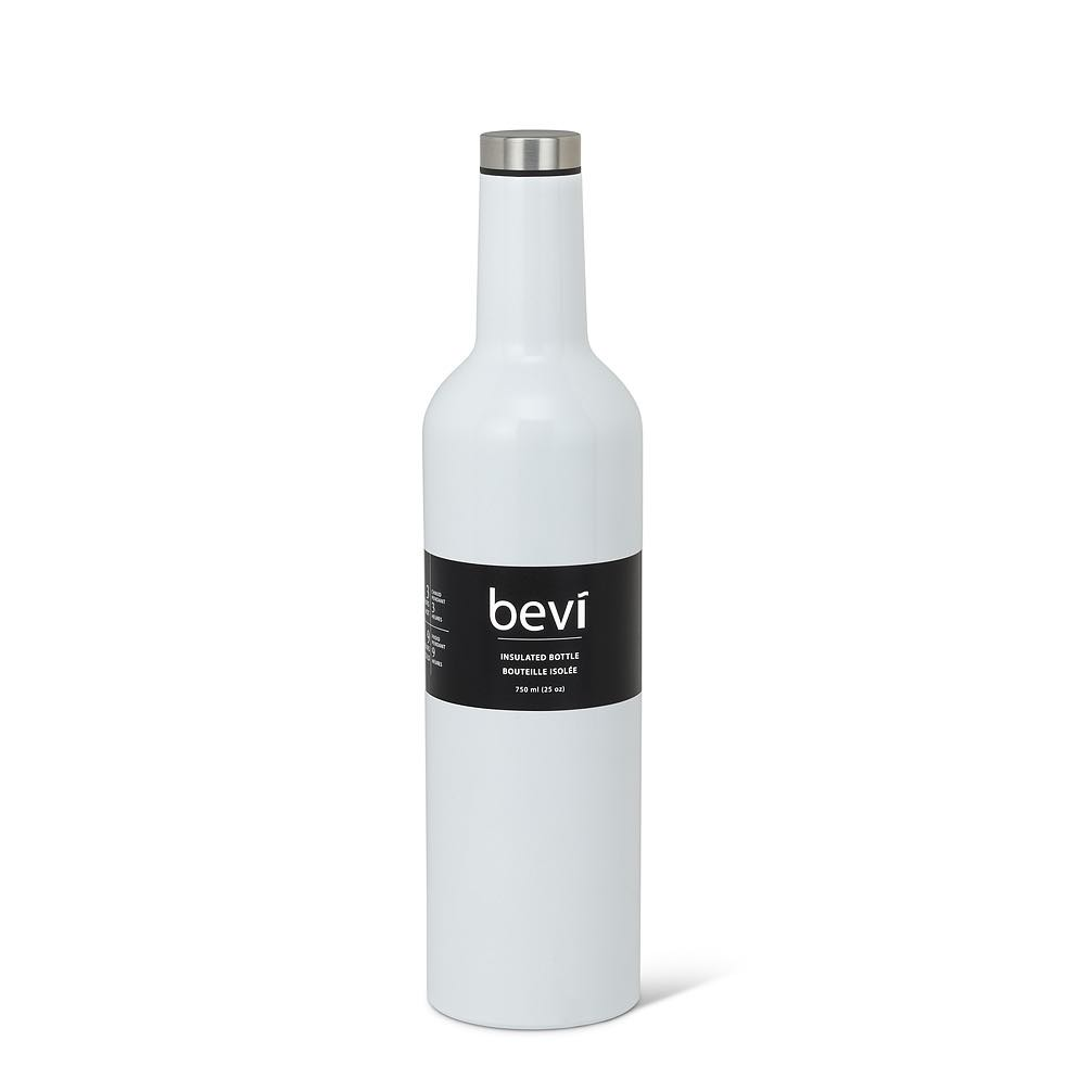 BEVI Insulated Steel 25oz Water Bottle | White
