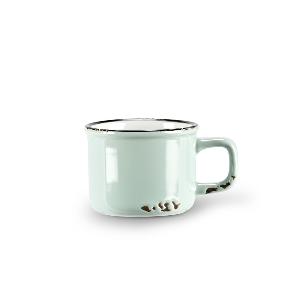 Enamel Look Espresso Mug | Light Blue 3oz
