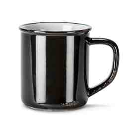 Enamel Look Mug | Black 14oz