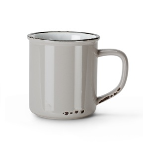 Enamel Look Mug | Grey 14oz