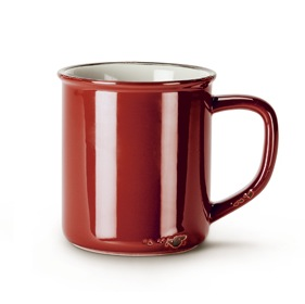 Enamel Look Mug | Red 14oz