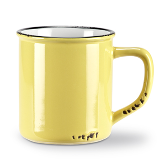 Enamel Look Mug | Yellow 14oz
