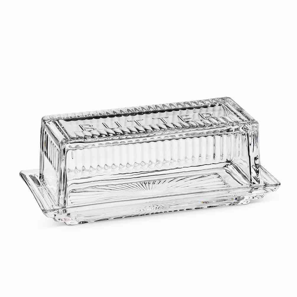 Glass Quarter-Pound Butter Dish