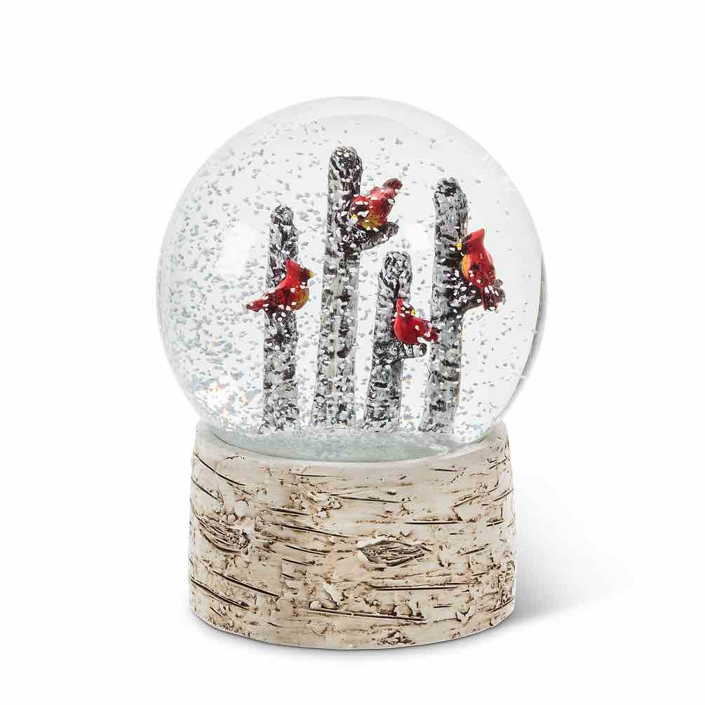 Cardinals on Trees Snow Globe