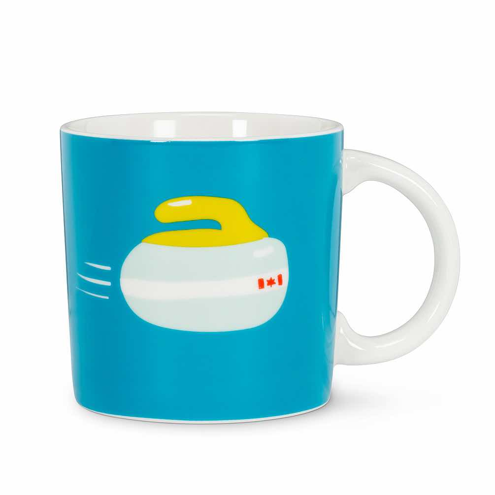 Graphic Curling Rock Mug