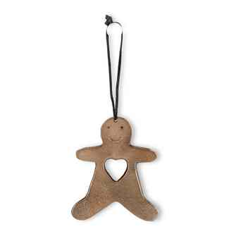 Gingerbread Man with Heart Ornament