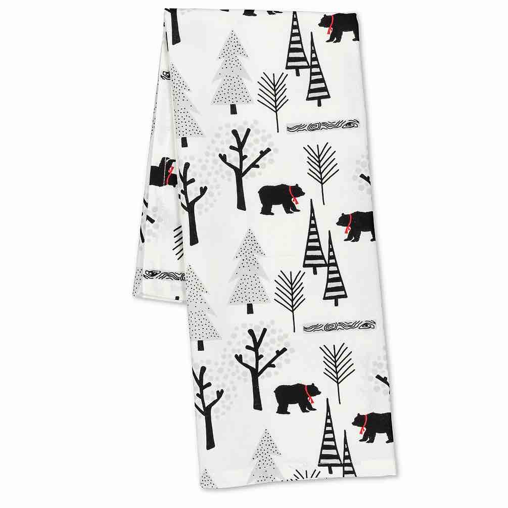 Bears & Trees Tea Towel