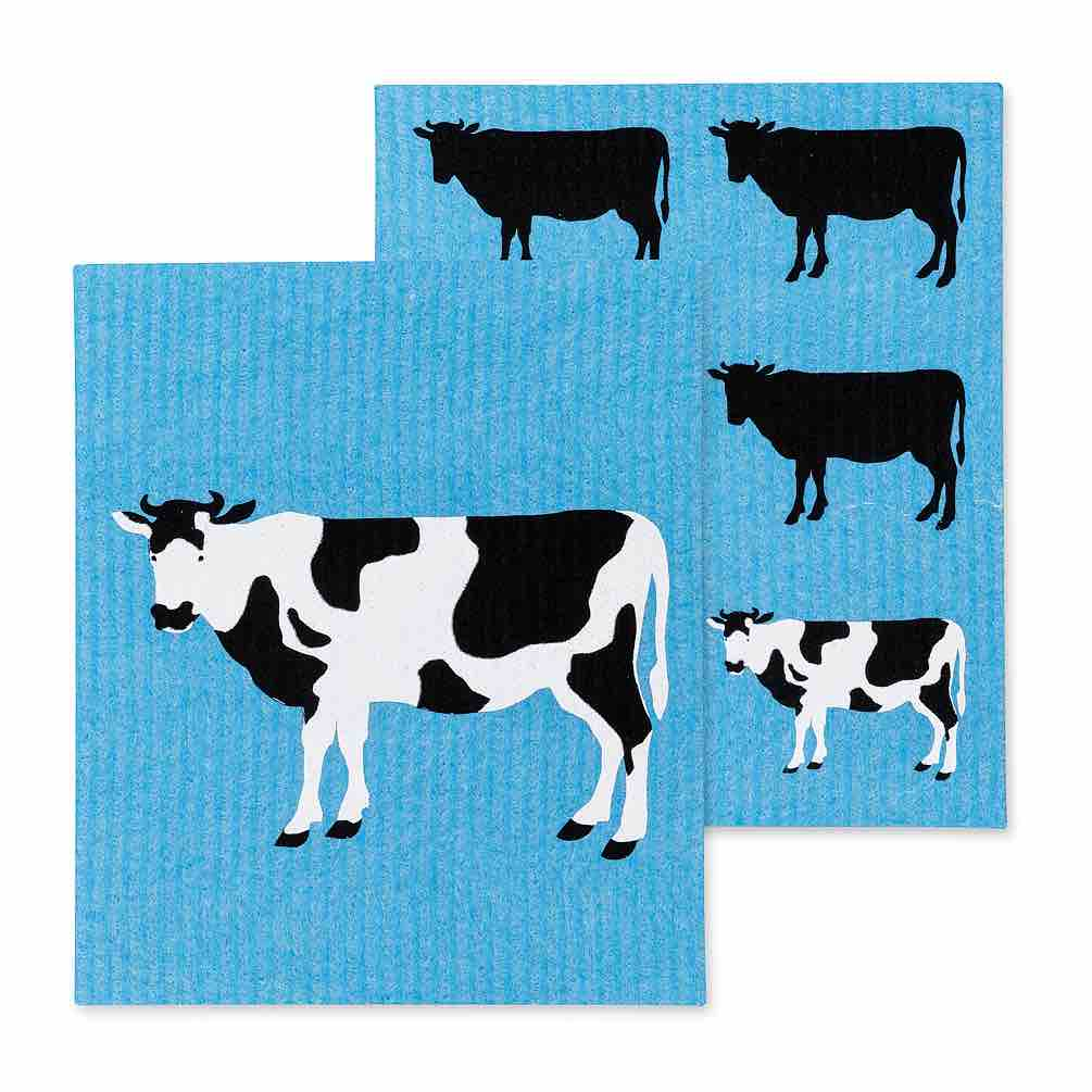 Cow Swedish Dishcloths | Set of 2