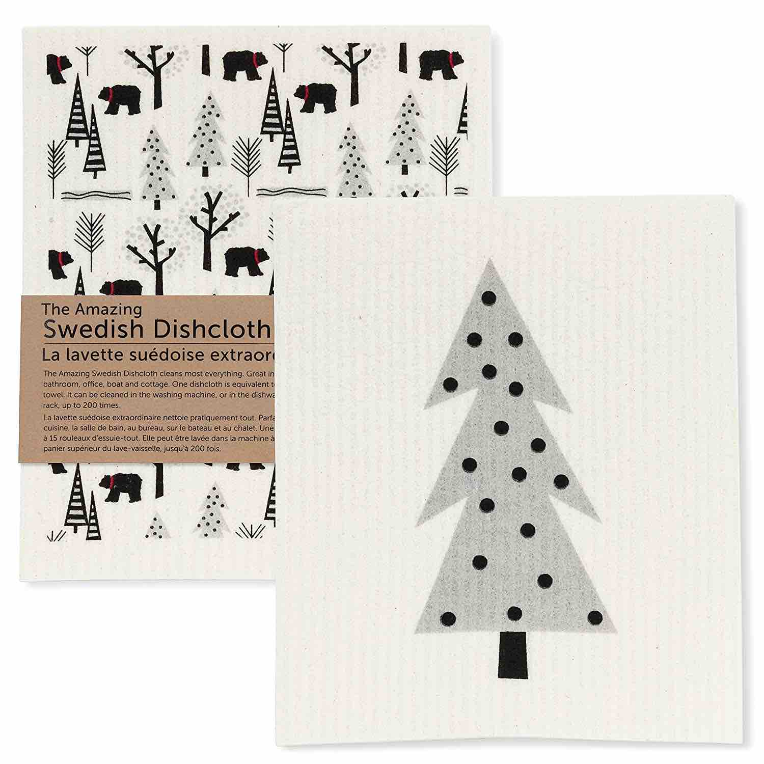 Bear & Tree Swedish Dishcloths | Set of 2