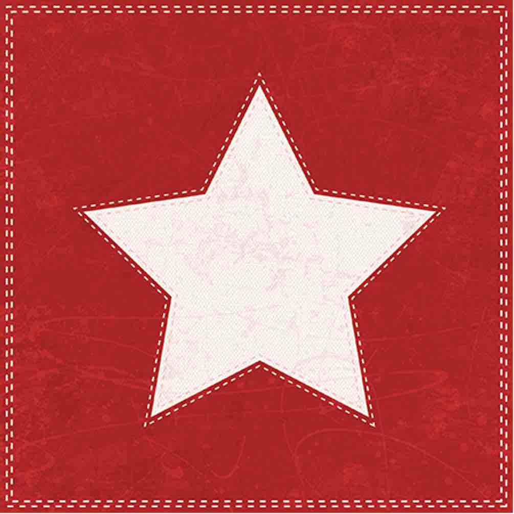 Christmas Star Napkins | 20pk Luncheon