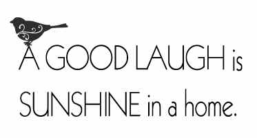 Wall Talk Quotes - A Good Laugh Is Sunshine In The Home