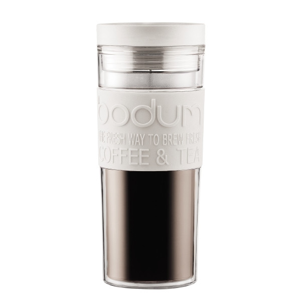 Bodum 15oz Travel Mug | White