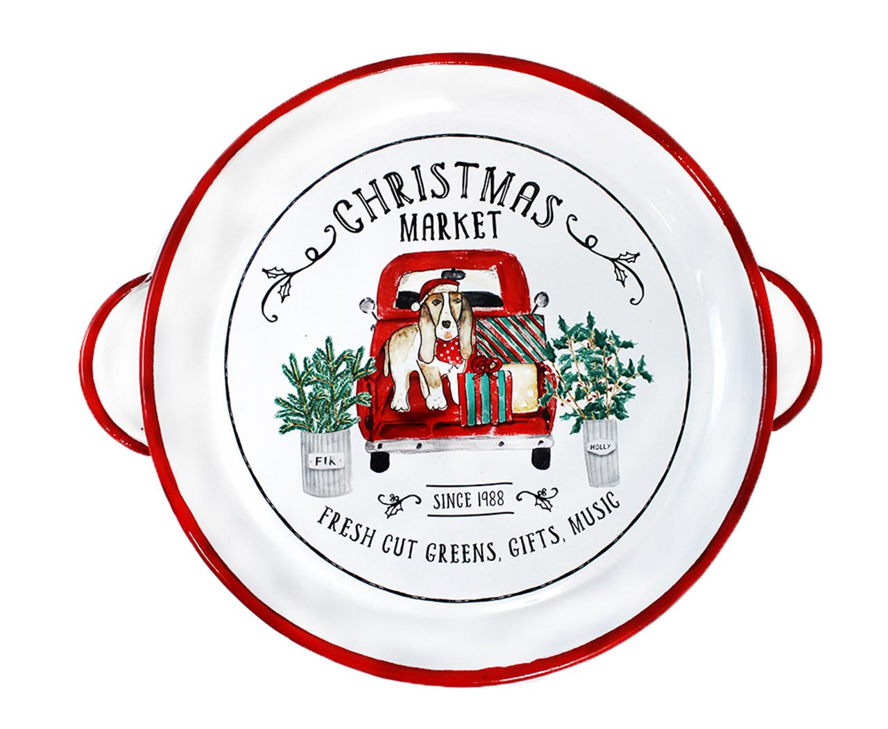 Christmas Market Tin Tray