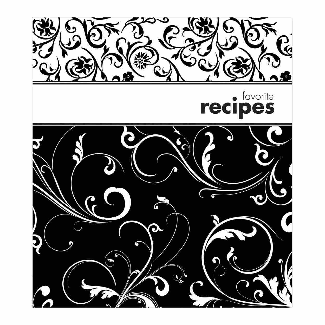 Recipe Card Binder Album | Black & White