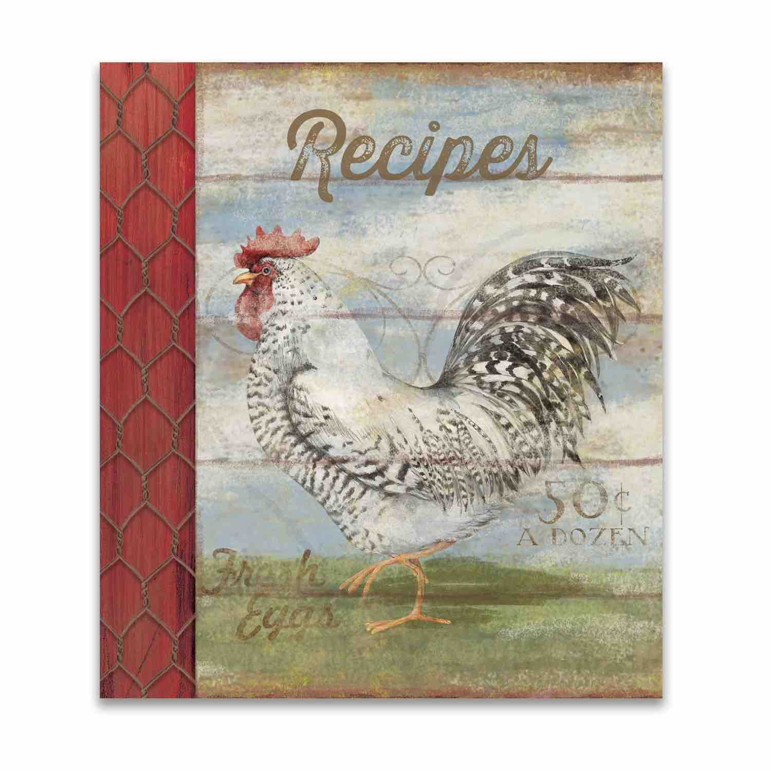 Recipe Card Binder Album | Barnyard Rooster