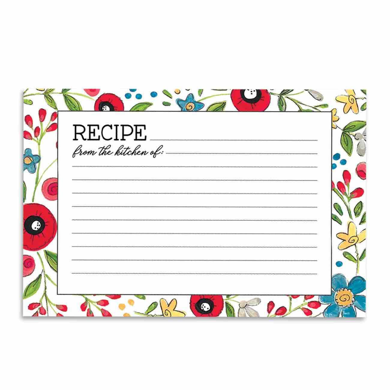 Recipe Cards 4x6 | Happy Kitchen