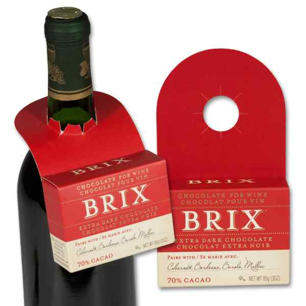 BRIX Extra Dark Chocolate for Wine 3oz Brick