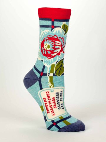 Blue Q Women's Crew Socks | Compulsively Awesome