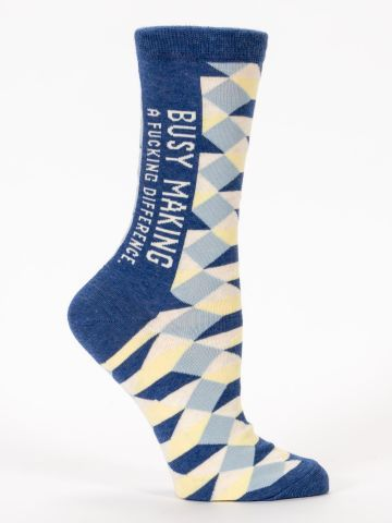 Blue Q Women's Crew Socks | Making a Difference