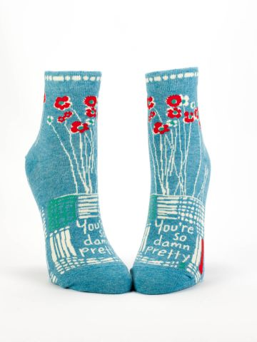 Blue Q Women's Ankle Socks - So Damn Pretty