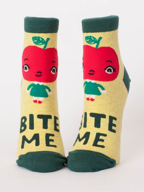 Blue Q Women's Ankle Socks | Bite Me