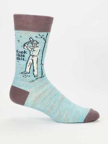 Blue Q Men's Socks | F This Sh