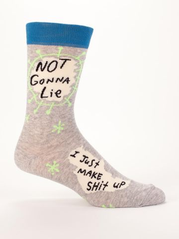 Blue Q Men's Socks | Not Gonna Lie