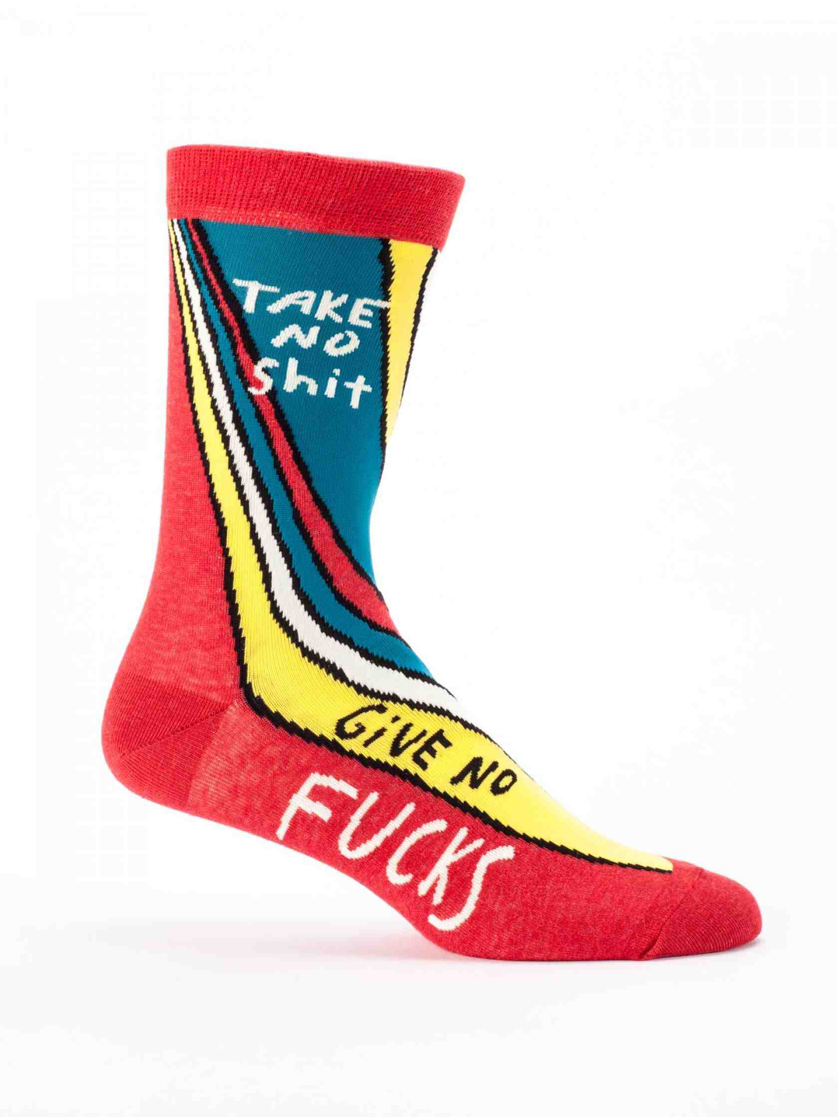 Blue Q Men's Socks | Take No Sh