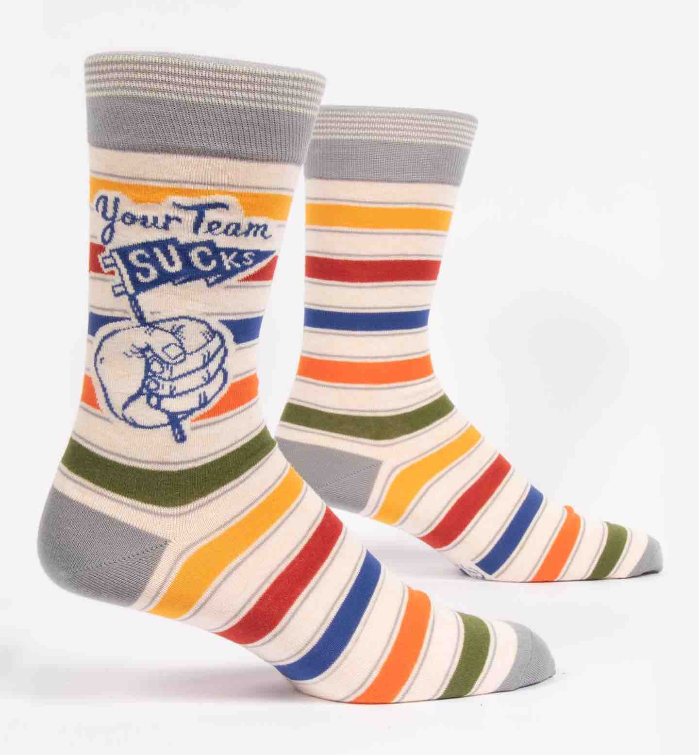 Blue Q Men's Socks | Your Team Sucks