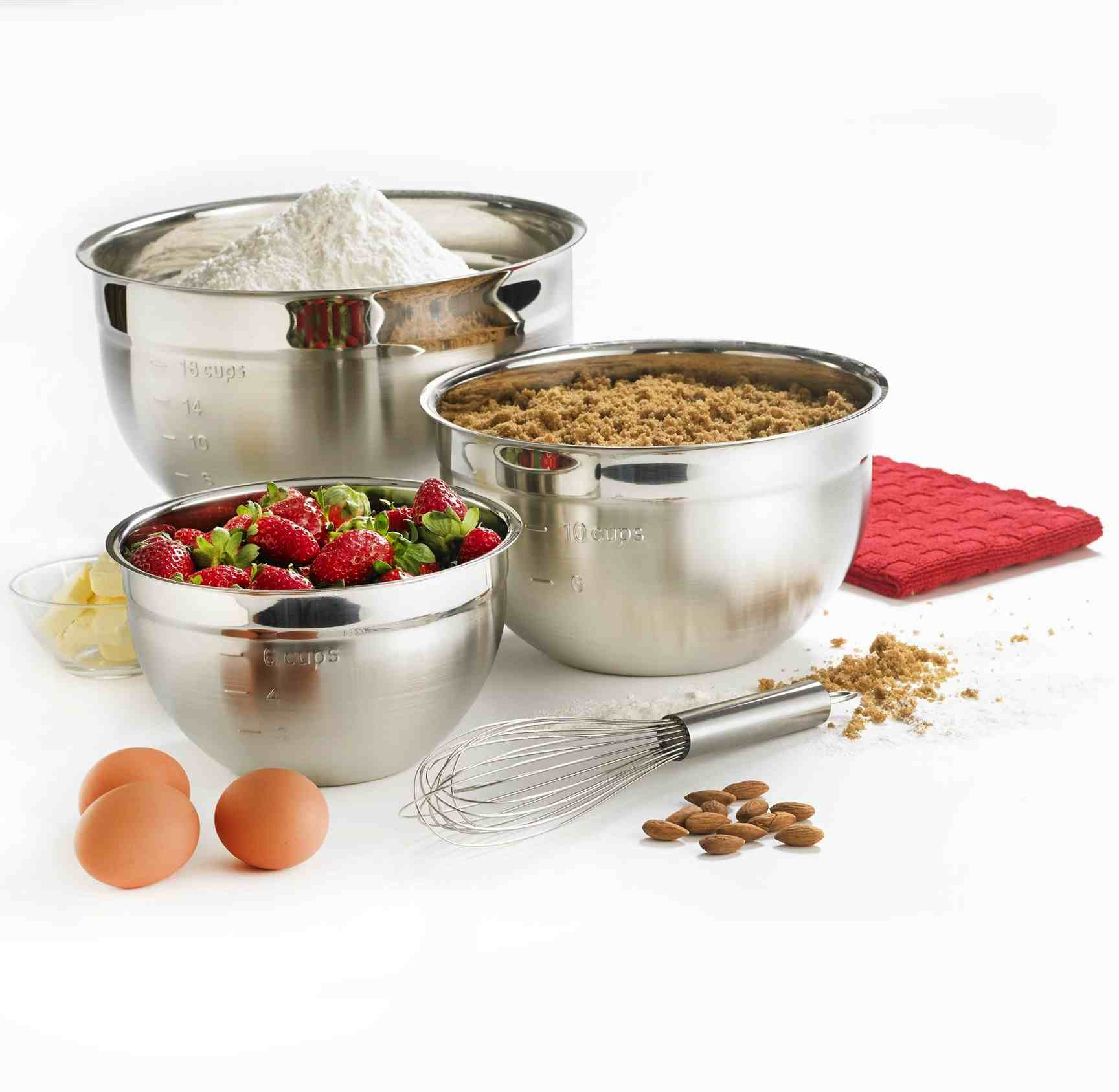 Cuisipro Definitive 3pc Stainless Steel Mixing Bowl Set
