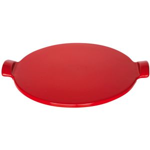 Emile Henry Flame Top BBQ Pizza Stone | Grand Cru Red
