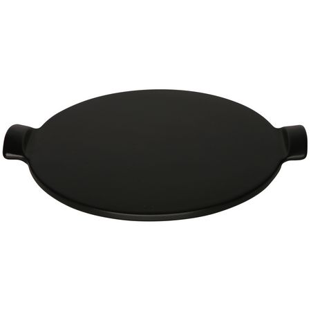 Emile Henry Flame Top BBQ Pizza Stone - Fusain Black
