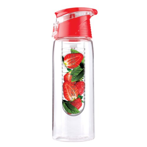 Flavour It Sport Tritan Water Bottle with Fruit Infuser