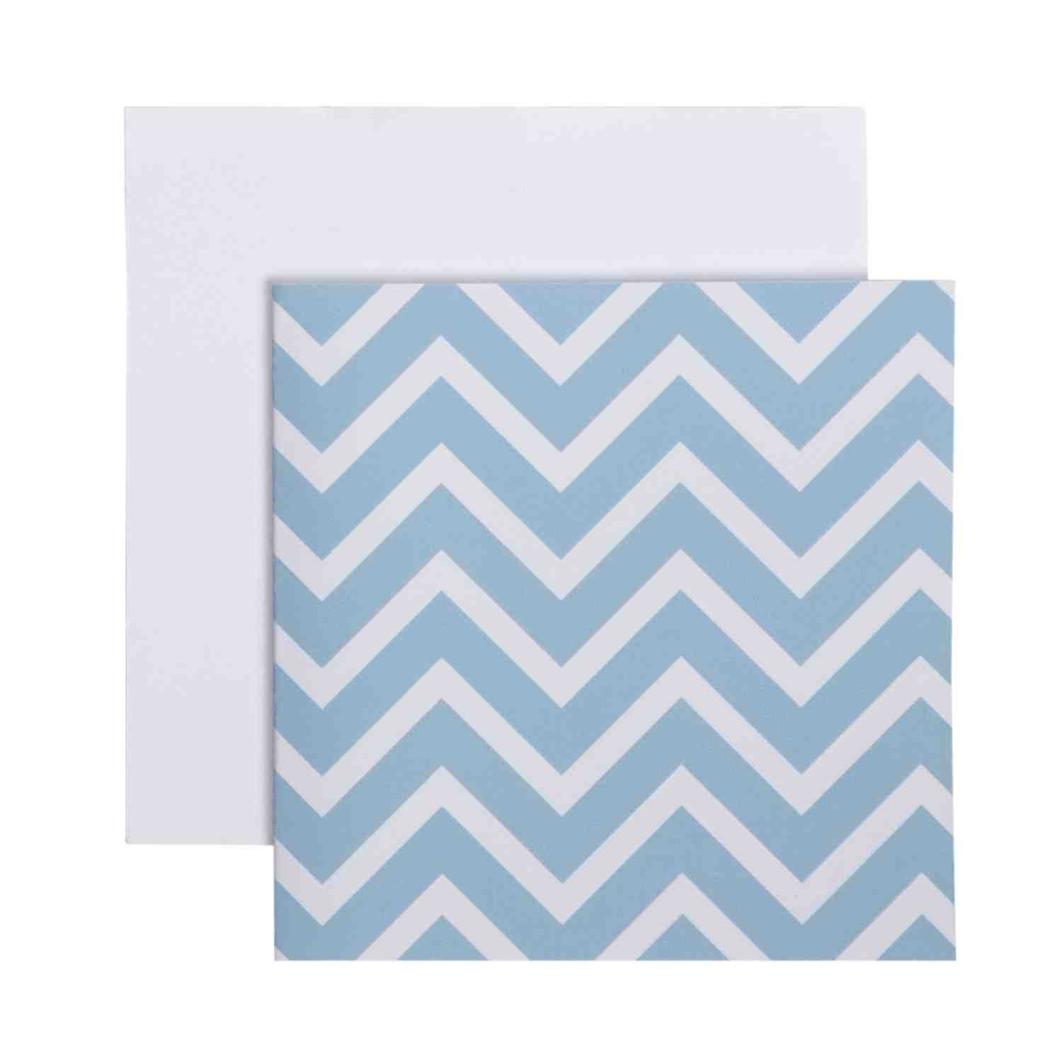 Enclosure Card - Blue Chevron