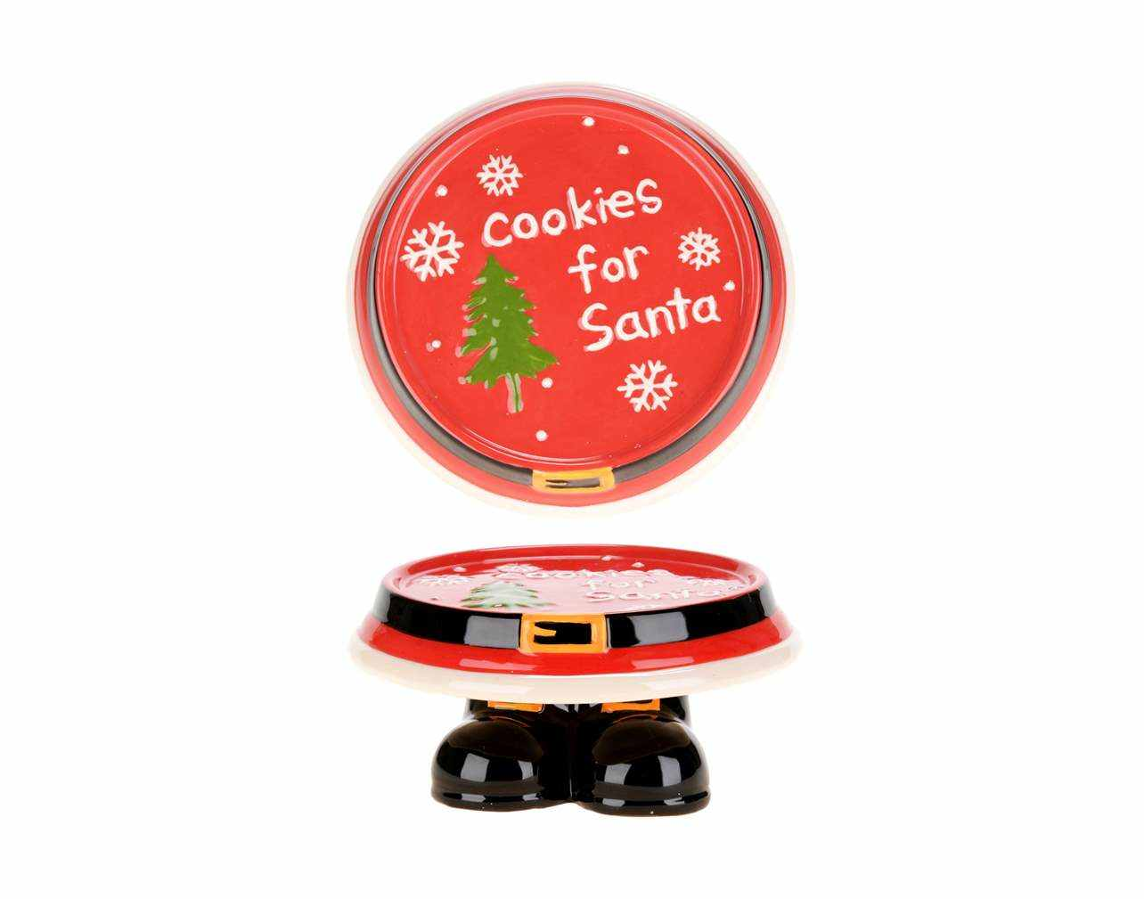 Footed Cookies For Santa Plate